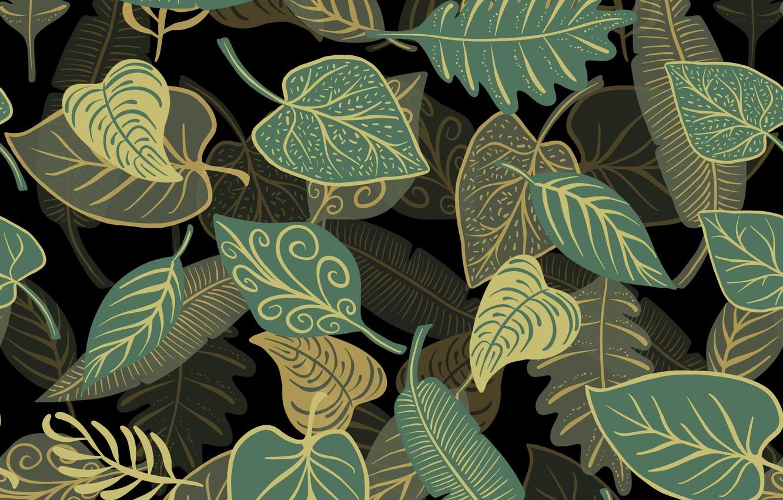Фото обои листья, фон, текстура
