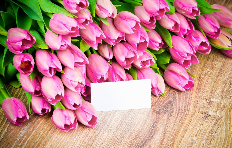 Фото обои цветы, букет, тюльпаны, wood, pink, romantic, tulips, spring, розовые тюльпаны