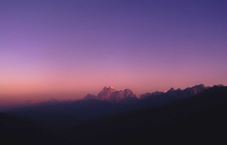 Фото обои небо, горы, Кавказ, Ушба