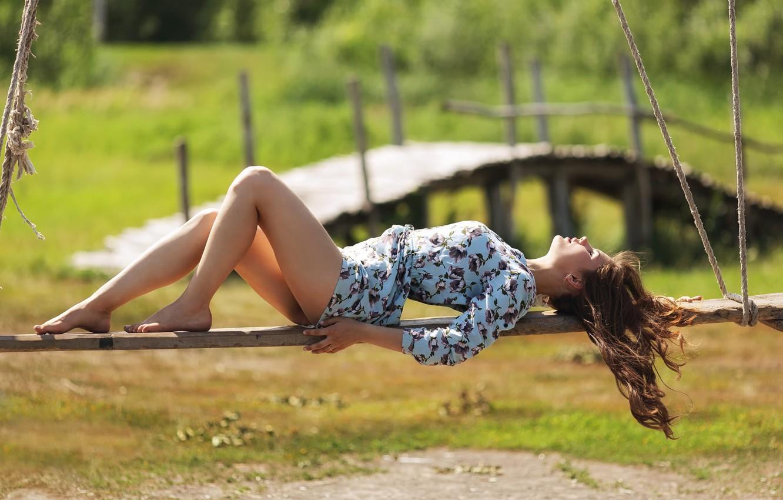 Фото обои лето, девушка, платье, Sunlight, Kazakhstan, Murat Kuzhakhmetov
