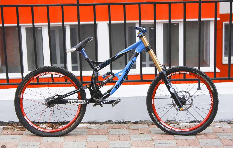 Фото обои Велосипед, saint, bike, fox, downhill, даунхилл, spike, transition, shimano, spank, tr450