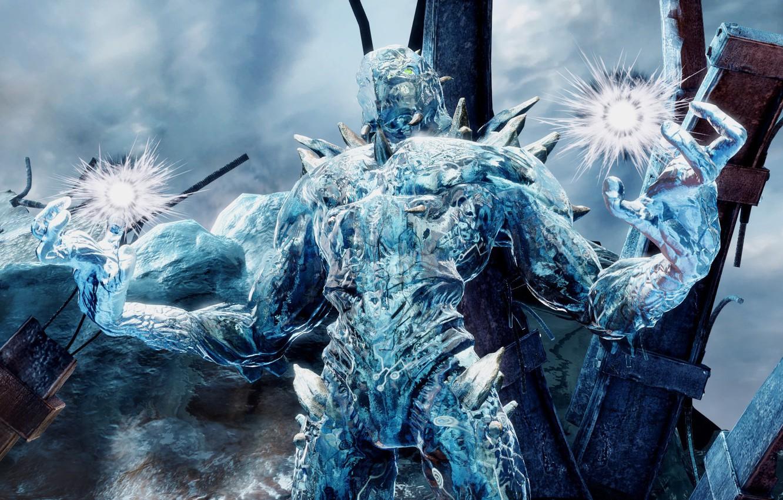 Фото обои ice, game, alien, fighting, warrior, powerful, strong, Killer Instinct, Glacius