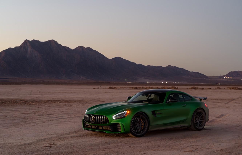 Фото обои дизайн, зеленый, фон, Mercedes GTR