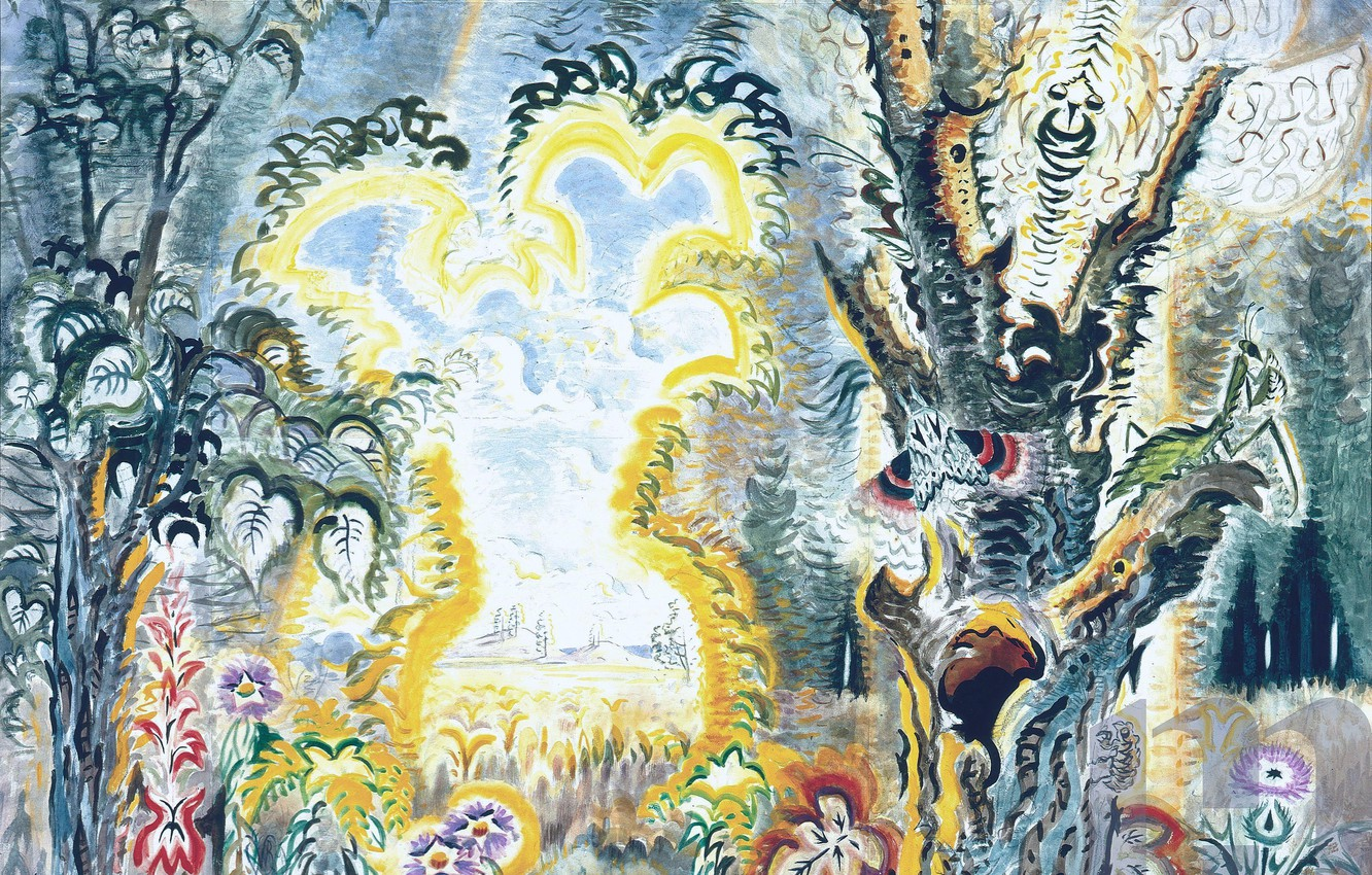 Фото обои Charles Ephraim Burchfield, Gateway to September, 1946-56, Hunter Museum version
