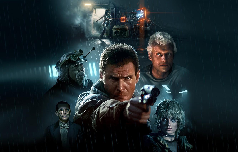 Фото обои Harrison Ford, Blade Runner, Cyberpunk