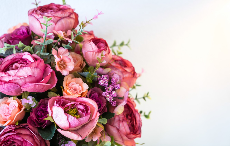 Фото обои цветы, букет, пионы