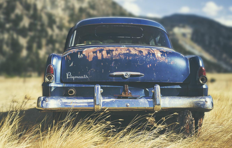 Фото обои машина, фон, Plymouth