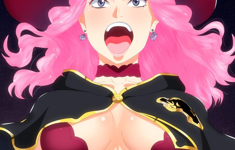 Фото обои logo, hat, pink, anime, asian, bull, manga, oppai, Vanessa, by kisi86, mahou, japonese, madoshi, Black …