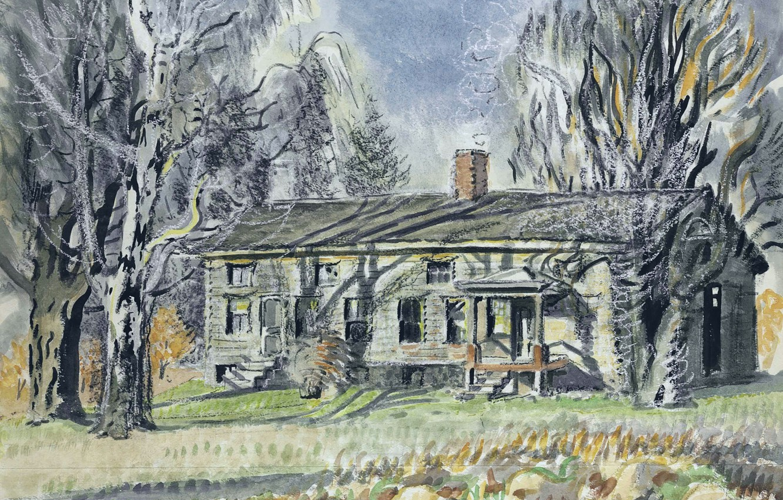 Фото обои Charles Ephraim Burchfield, North of Wyoming Village, Long House