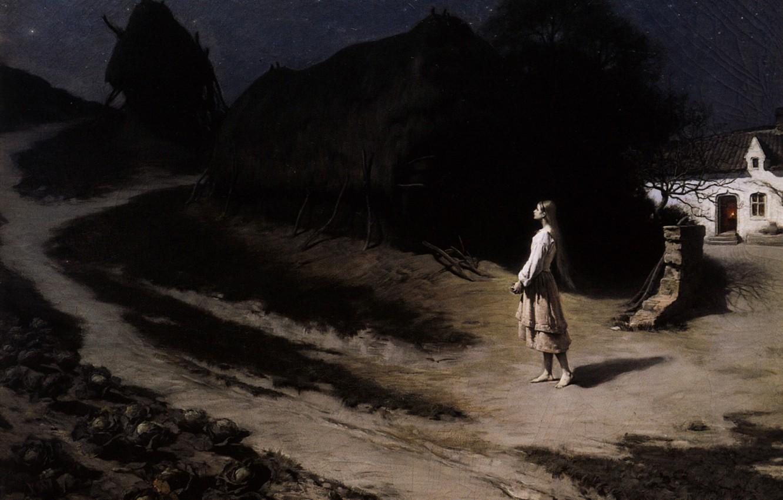 Фото обои Молодая пастушка Жанна, Ипполит-Доминик, Берто, 1880-1884