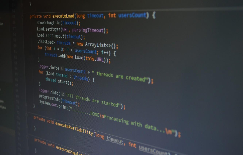 Фото обои computer, coding, programing, codding