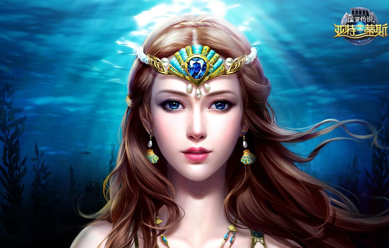 Фото обои вода, арт, fantasy, локация, slots league of heroes