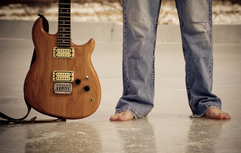 Фото обои музыка, ноги, гитара