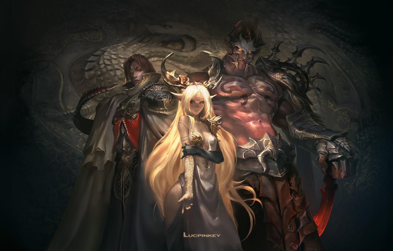 Фото обои игра, фэнтези, арт, Legacy of Discord, Dark Trinity, Яростные Крылья, lucpinkey L
