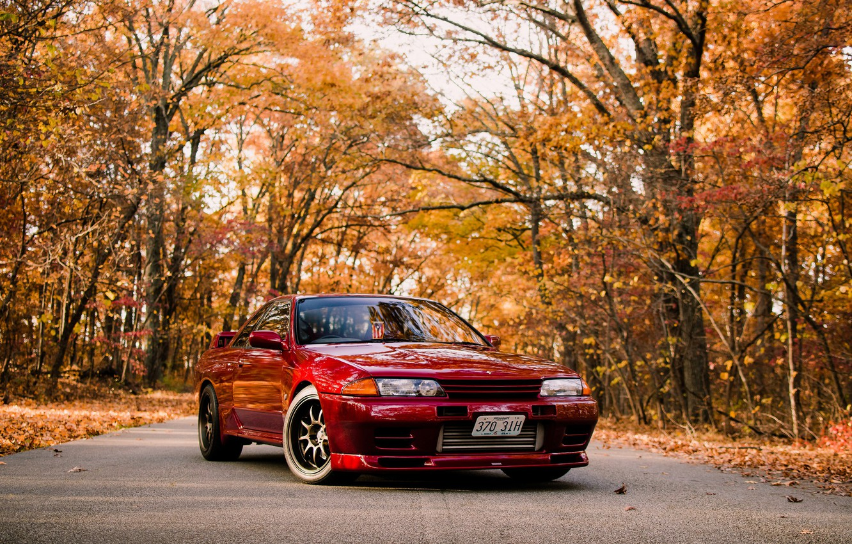 Фото обои GTR, Nissan, R32, Skyline