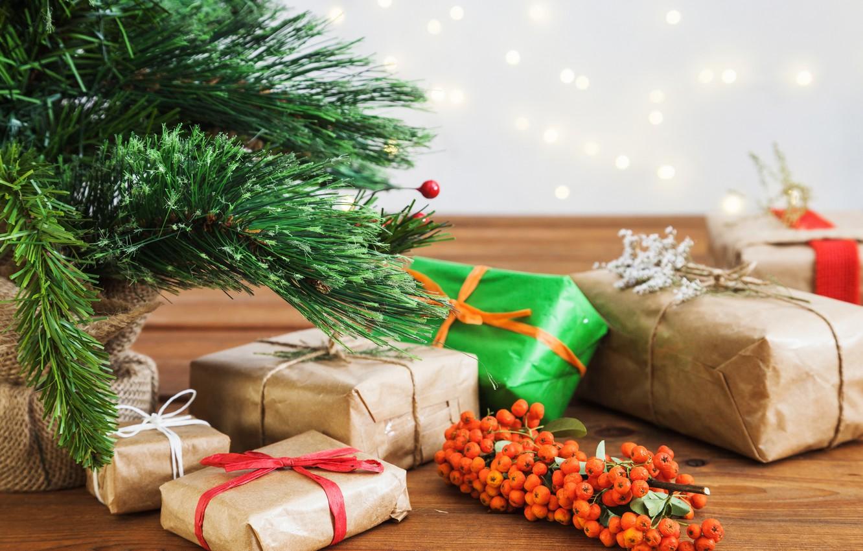 Новогодняя елка и подарки картинки простые