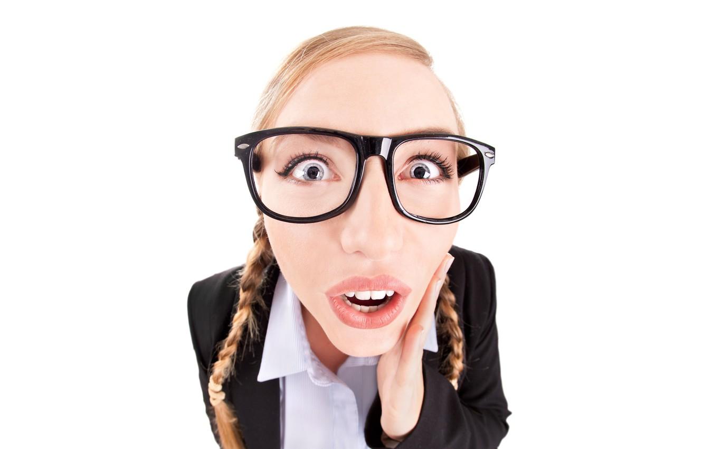 Фото обои глаза, взгляд, девушка, эмоции, ситуации, настроение, удивление, юмор, очки, блондинка