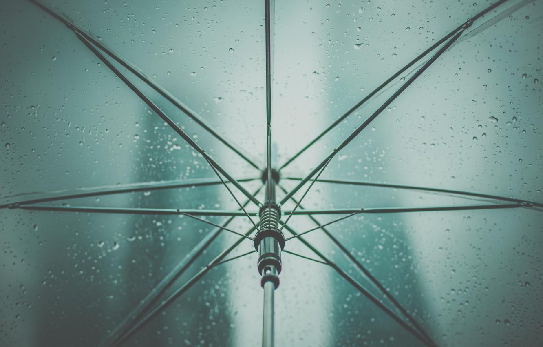 Обои дождь, зонт, капли. Разное foto 10