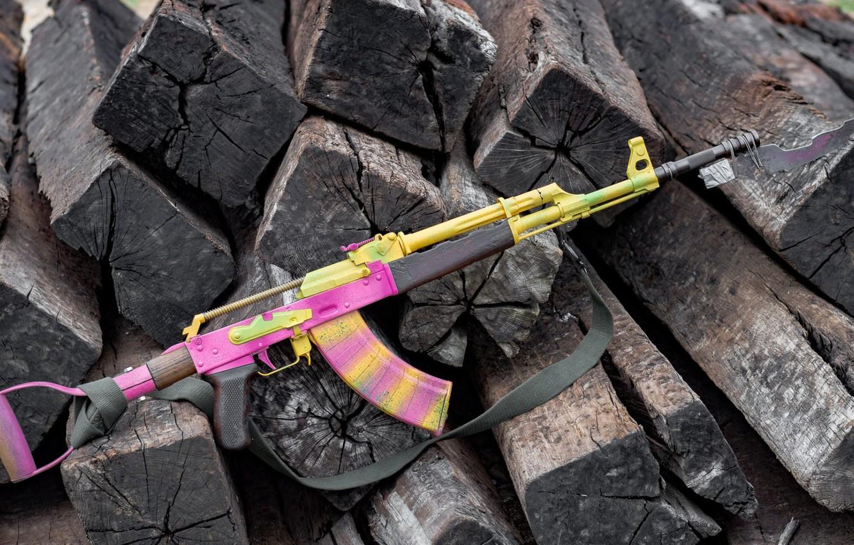 Фото обои автомат, weapon, assault rifle, Fallout 4, акм, оужие, ak, akm