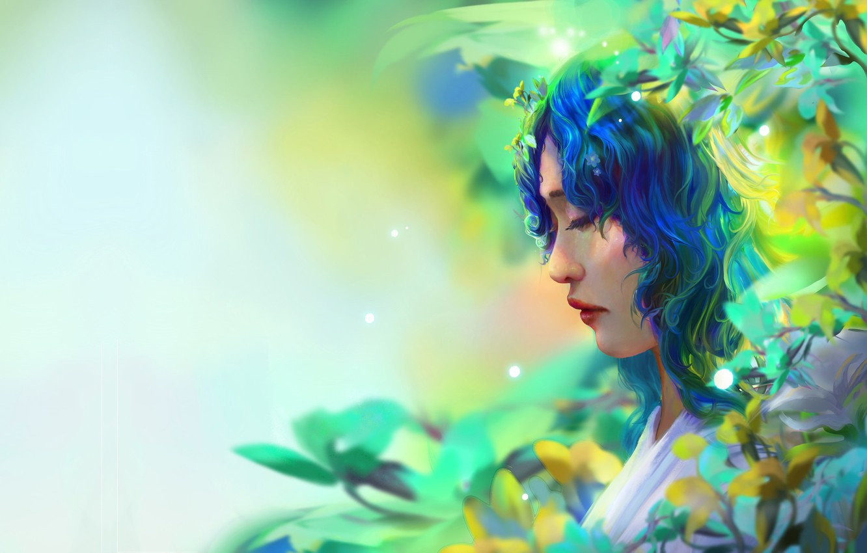 Фото обои девушка, фэнтези, fantasy portrait, Trung Tin Shinji