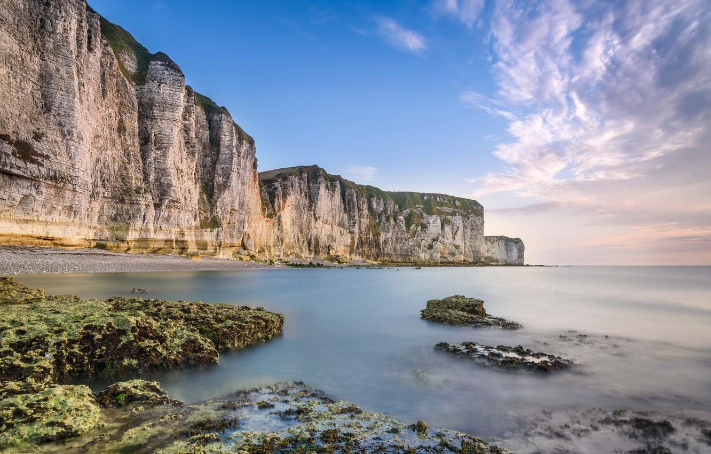 Фото обои море, природа, скалы, Франция, Нормандия
