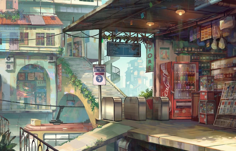 магазин обои город