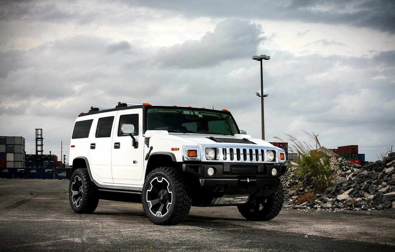 Фото обои wheels, Hummer, with