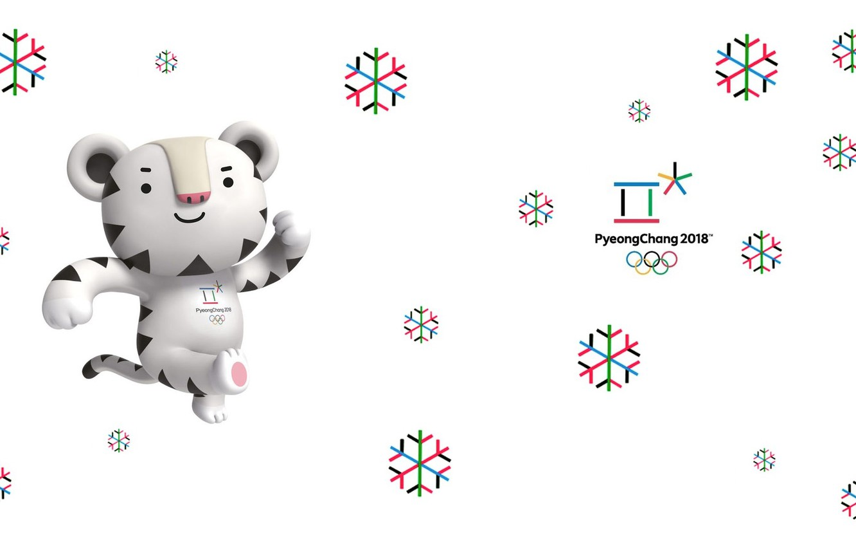 Фото обои Белый тигр, Soohorang, Сухоран, Талисман, Пхенчхан, Олимпийская игра