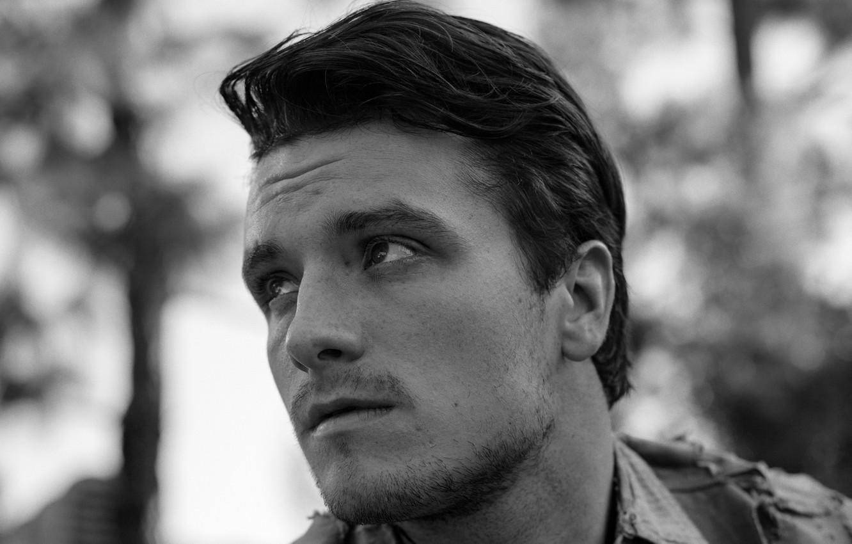 Фото обои актер, черно-белое, Josh Hutcherson