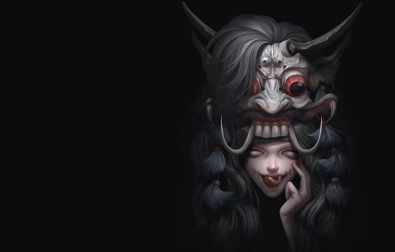 Фото обои фэнтези, арт, Illustrator, Mix demon, Asep Ariyanto