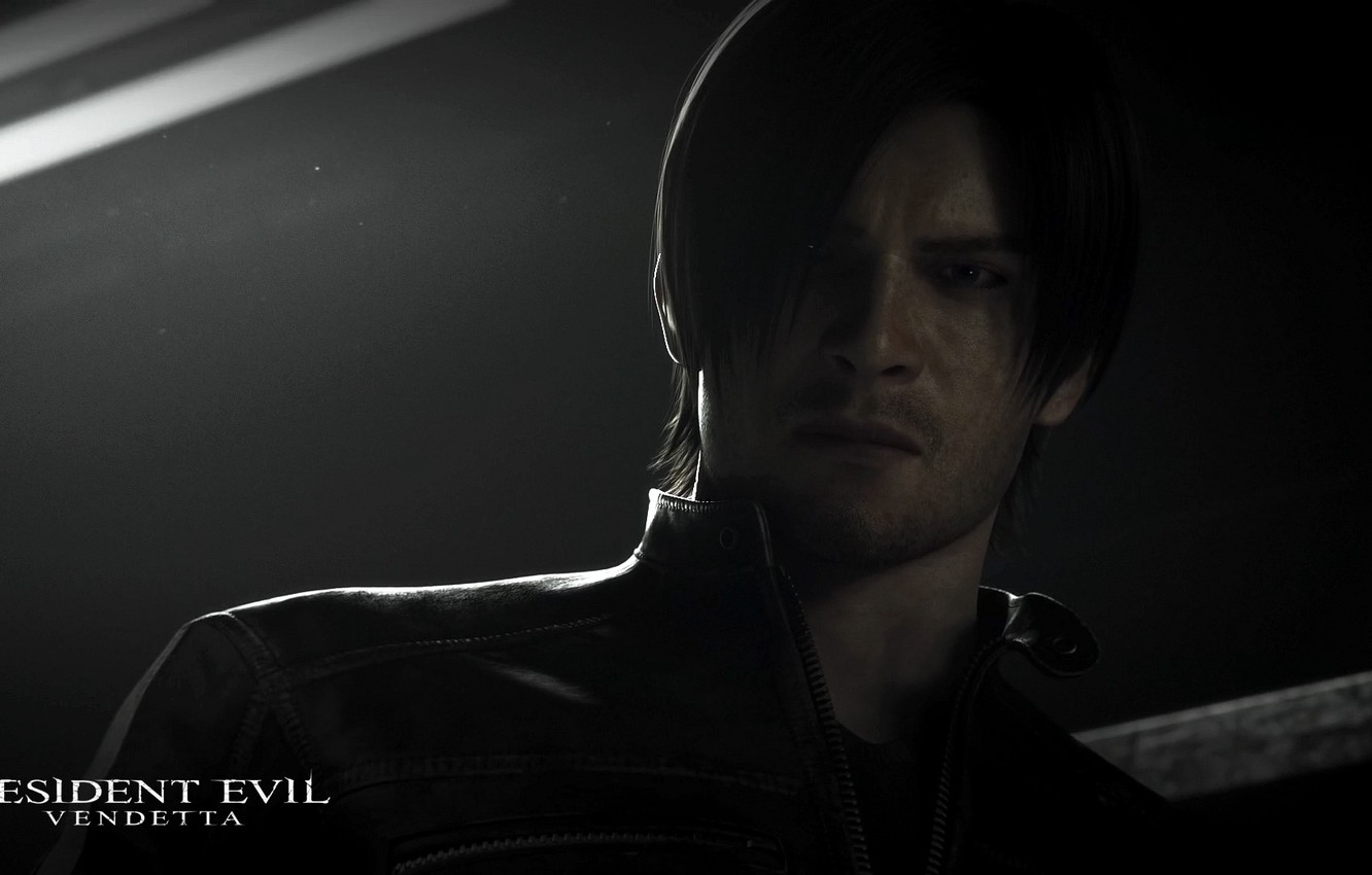Фото обои dark, wallpaper, black, resident evil, movie, film, leon kennedy, animated film, animated, leon s kennedy, …