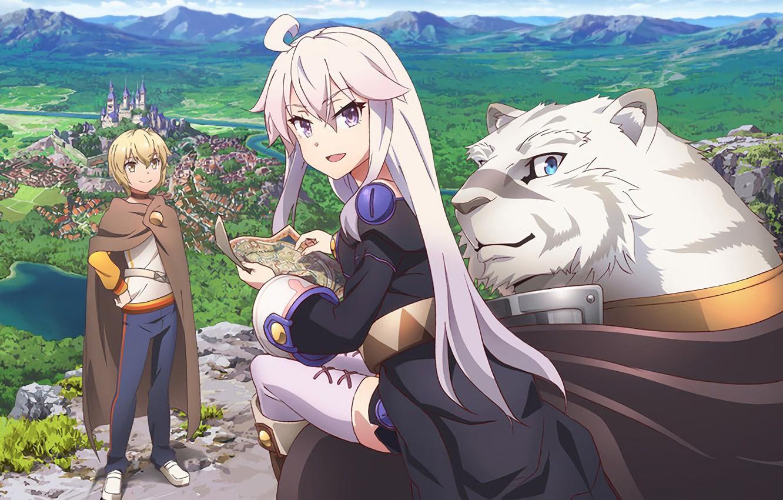 Фото обои tiger, anime, map, vegetation, strong, mercenary, novel, light novel, Albus, Zero Kara Hajimeru Mahou No …