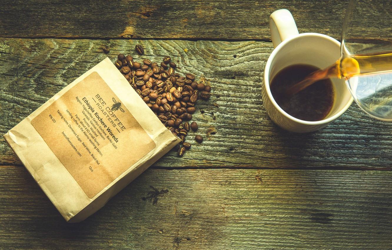 Фото обои кофе, напиток, зёрна