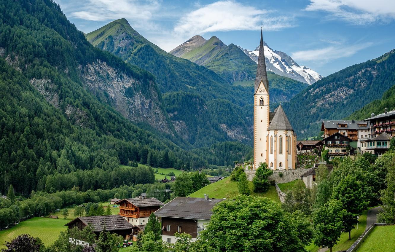 Обои альпы, городок, дома, деревня. Города foto 9