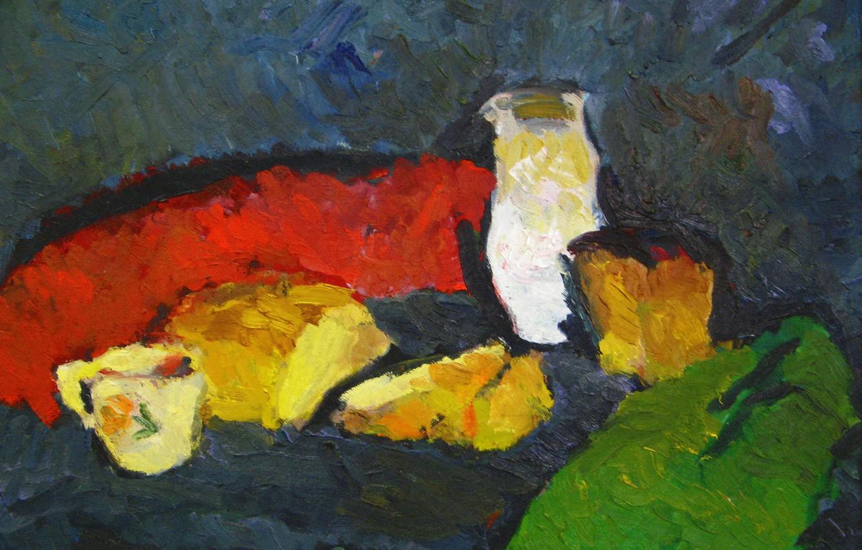 Фото обои 2006, сыр, хлеб, кружка, натюрморт, Петяев