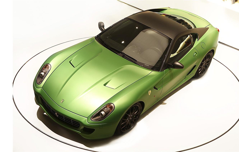 Фото обои green, белый фон, ferrari, 599, зелёная, italianao