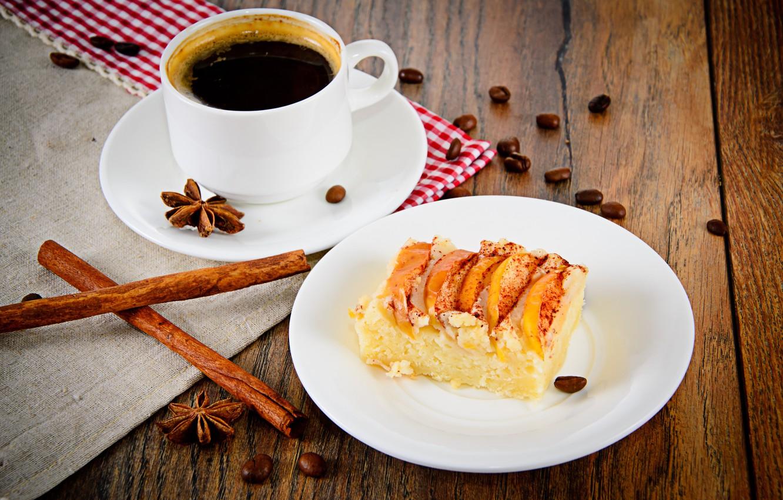 Обои пирог, сливы, сливовый, кофе, выпечка. Еда foto 11