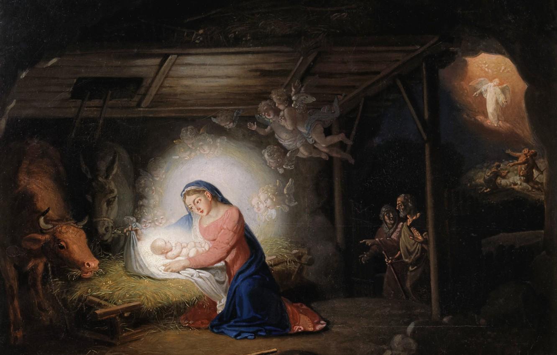Фото обои религиозная живопись, Рождество Христово, Боровиковский В.Л., Nov. Ierusalim