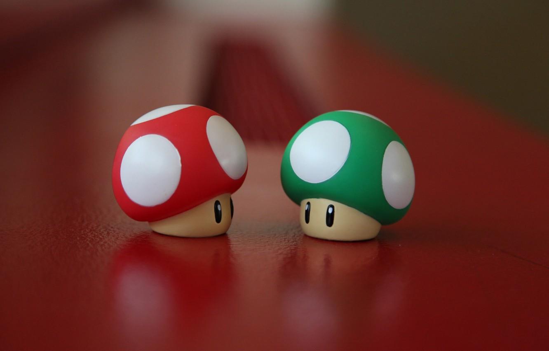 Фото обои красный, зеленый, стол, грибы, гриб, шляпки, mushroom, mushrooms