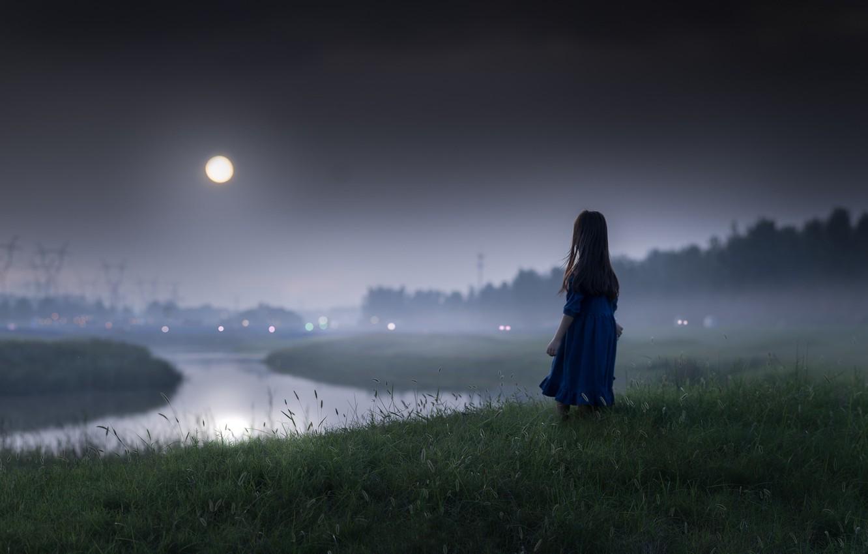 Обои ночь, Девочка, настроение. Настроения foto 6