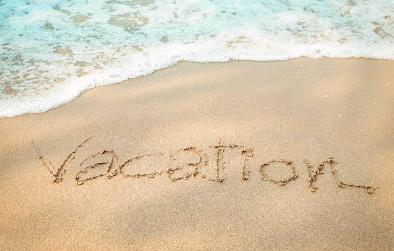 Фото обои песок, море, волны, пляж, лето, summer, beach, sea, seascape, sand, wave, vacation