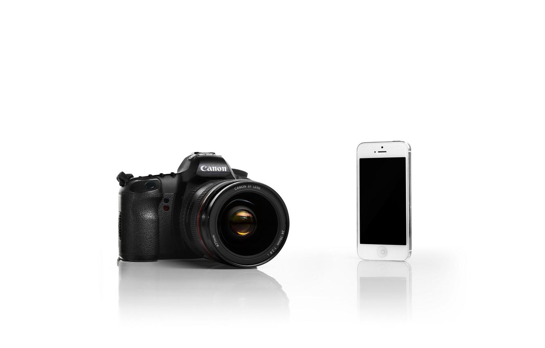 Фото обои iPhone, White, Canon, Camera, Silver, Backgraund