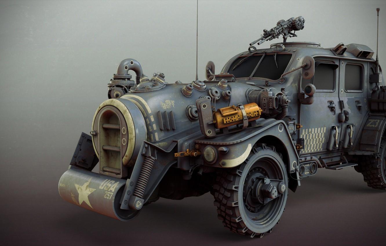 Обои sci-fi ww2 allied standard car, Matthias Develtere. Рендеринг foto 6
