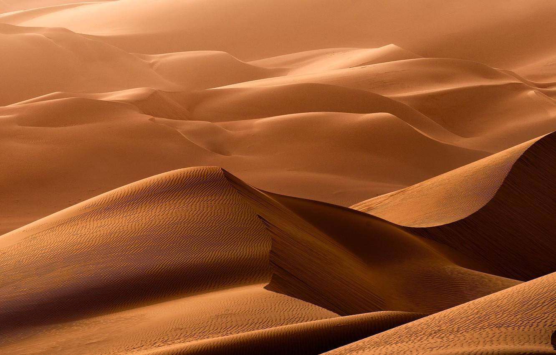 Фото обои песок, природа, барханы, пустыня, дюны