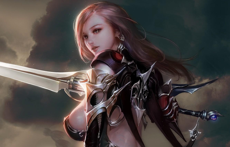 Девушка с двумя мечами картинки