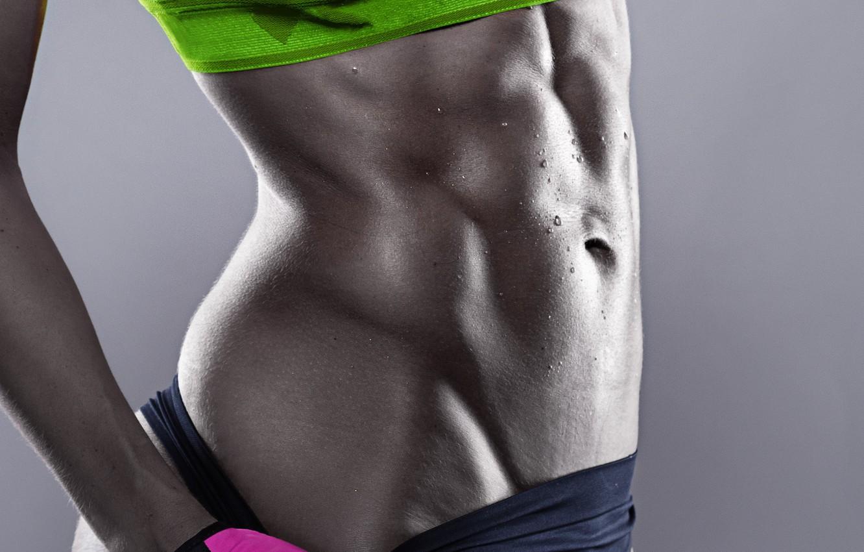Фото обои model, female, workout, fitness, Sportswear, abs, perspiration