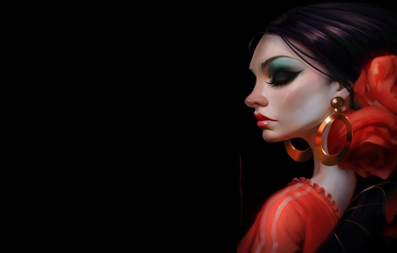 Фото обои девушка, арт, танцовщица, Rocio de Flamenco, Daniel Orive