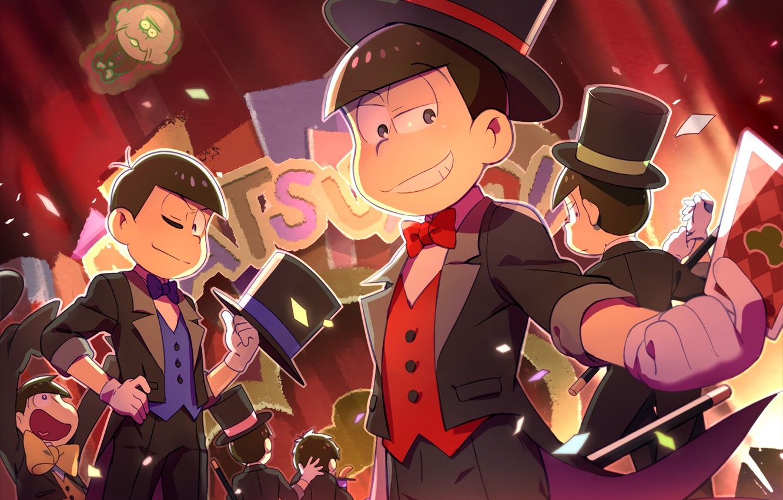 Фото обои аниме, арт, парни, Osomatsu-san, Осоматсу-сан