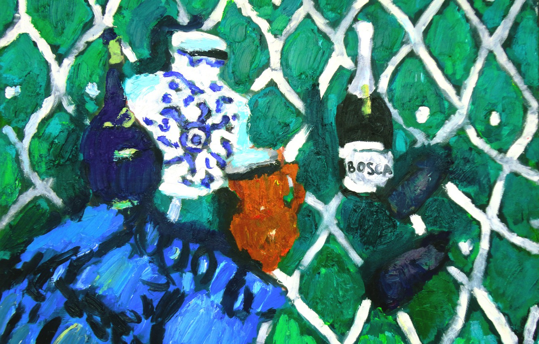 Фото обои баклажаны, натюрморт, 2013, шанпанское, Петяев, bosca