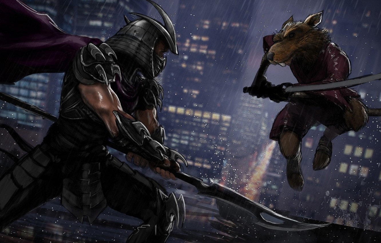 Фото обои Черепашки-ниндзя, tmnt, splinter, Teenage Mutant Ninja Turtles, shredder